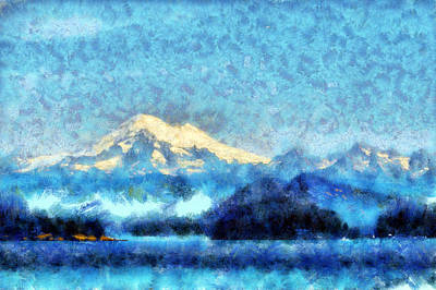 Digital Art - Mount Baker by Kaylee Mason
