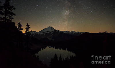 Photograph - Mount Baker Milky Way by Mike Reid