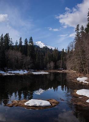 Mount Baker Reflected Art Print