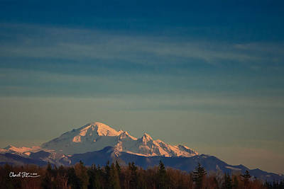 Mount Baker Sunset Art Print by Charlie Duncan
