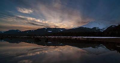 Mount Baker Sunset Art Print