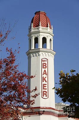 Photograph - Mount Baker Theater Tower Bellingham by John  Mitchell