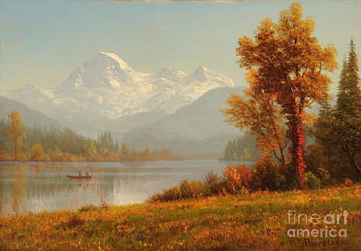 Wyoming Painting - Mount Baker Washington by Celestial Images