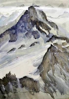 Mount Blanc Art Print by Ed  Heaton