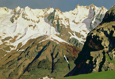 Mount Blanc Mountains Art Print by Isaak Ilyich Levitan