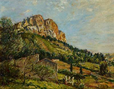 Mountainside Painting - Mount Canaille  Cassis by Mark Fisher