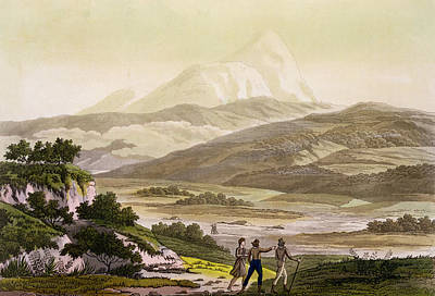 South American Drawing - Mount Cayambe, Ecuador, From Le Costume by Friedrich Alexander, Baron von Humboldt