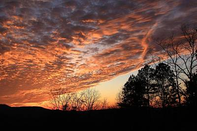 Art Print featuring the photograph Mount Cheaha Sunset-alabama by Mountains to the Sea Photo