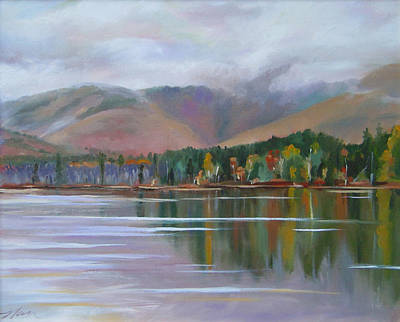 Painting - Mount Chocorua And Chocorua Lake New Hampshire by Nancy Griswold