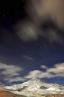 Snowy Night Photograph - Mount Damavand At Night by Babak Tafreshi
