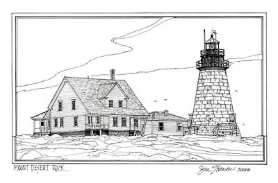 Mount Desert Rock Lighthouse Art Print
