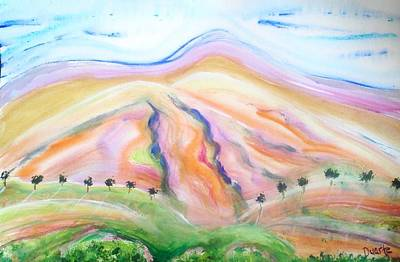 Art Print featuring the painting Mount Diablo by Carol Duarte
