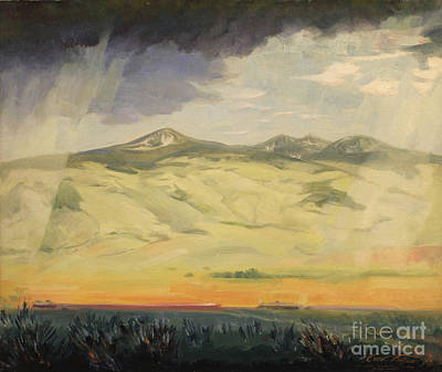 Painting - Mount Edith - Montana by Art By Tolpo Collection