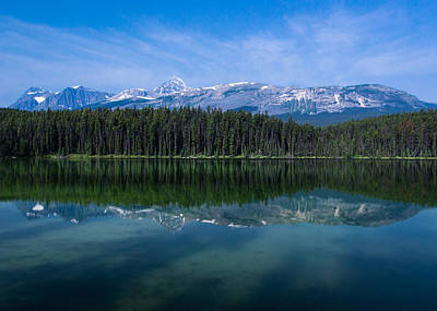 Mount Edith Cavell From Leach Lake.  Art Print by Cale Best