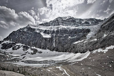 Photograph - Mount Edith Cavell Glaciers by Stuart Litoff