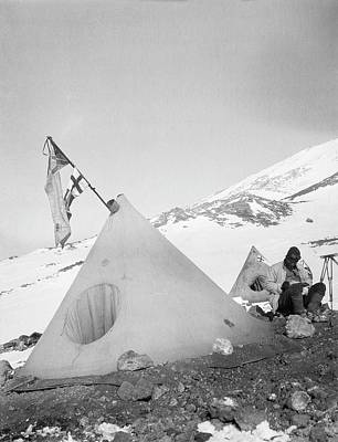 Erebus Photograph - Mount Erebus Ascent Expedition by Scott Polar Research Institute