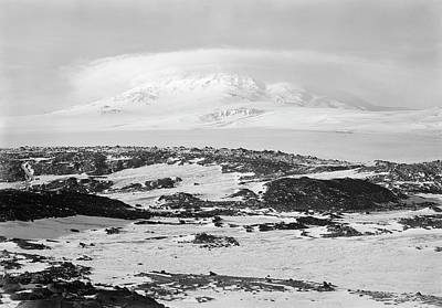 Erebus Photograph - Mount Erebus In Antarctica by Scott Polar Research Institute