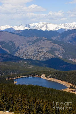 Steven Krull Royalty-Free and Rights-Managed Images - Mount Evans and Echo Lake by Steven Krull