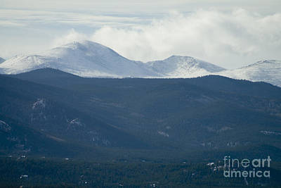 Steven Krull Royalty-Free and Rights-Managed Images - Mount Evans in Snow by Steven Krull