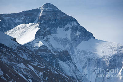 Mount Everest At 8850 M Art Print by Michel Piccaya