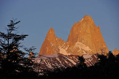Photograph - Mount Fitz Roy At Sunrise by Michele Burgess