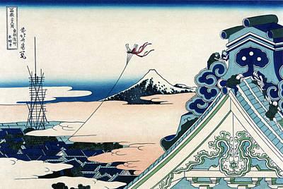 Photograph - Mount Fuji, Asakusa Hongan-ji Temple by Science Source