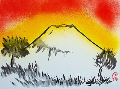 Mount Fuji At Daybreak Art Print by Roberto Prusso