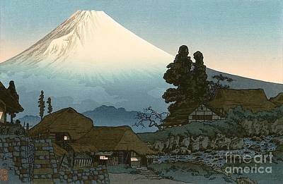 Painting - Mount Fuji From Mizukubo by PG Reproductions