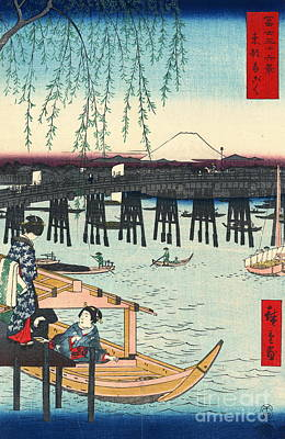 Ando Hiroshige Photograph - Mount Fuji From Ryogoku 1858 by Padre Art