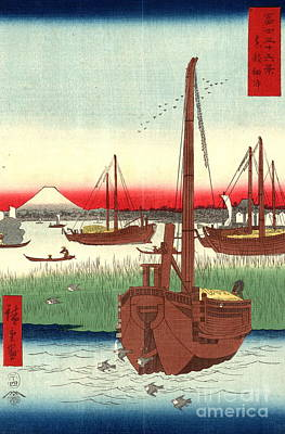 Mount Fuji From Tokyo Bay 1858 Art Print by Padre Art
