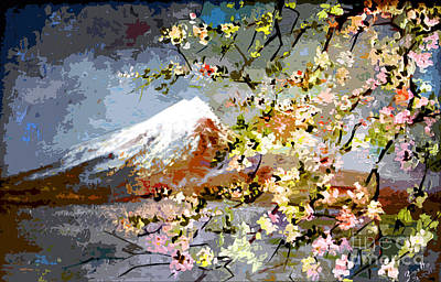 Painting - Mount Fuji by Ginette Callaway