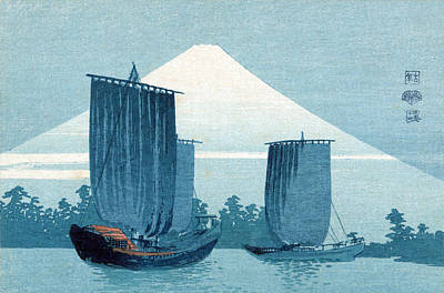 Photograph - Mount Fuji, Sailboats by Science Source