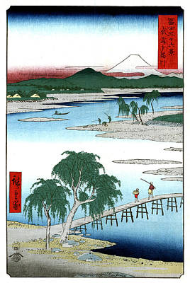 Photograph - Mount Fuji, Tama River, 1858 by Science Source