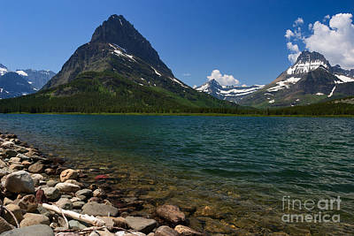 Photograph - Mount Grinnell And Swiftcurrent Lake At Many Glacier by Charles Kozierok