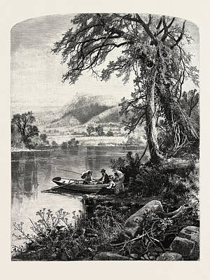 Mount Holyoke, From The Connecticut River Art Print