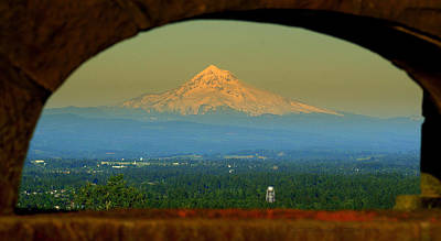 Photograph - Mount Hood Framed by DerekTXFactor Creative