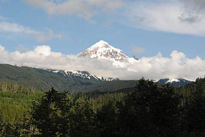 Photograph - Mount Hood In The Clouds by Robert  Moss