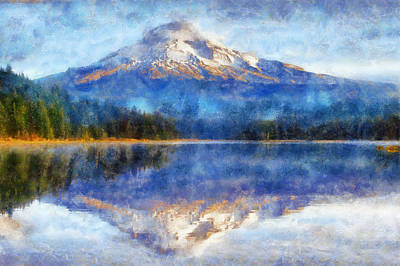 Mt Hood Digital Art - Mount Hood by Kaylee Mason