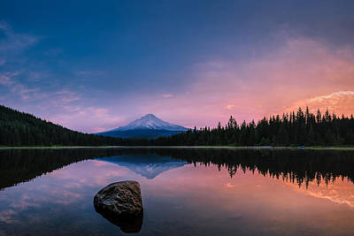 Photograph - Mount Hood Magic by Dan Mihai