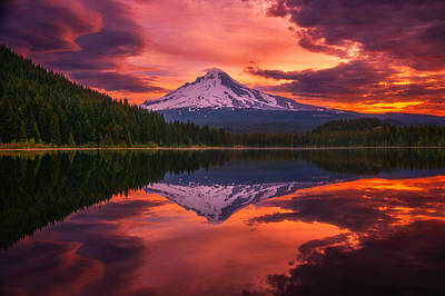Mount Hood Sunrise Art Print by Darren  White