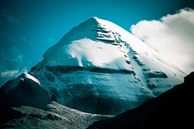 Mount Kailash Home Of The Lord Shiva Art Print by Raimond Klavins