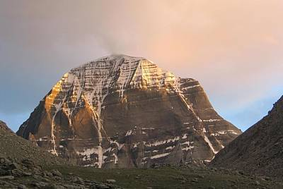 Parvati Painting - Mount Kailash by Rajesh  Gupta