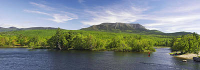Mount Katahdin And The West Branch  Art Print