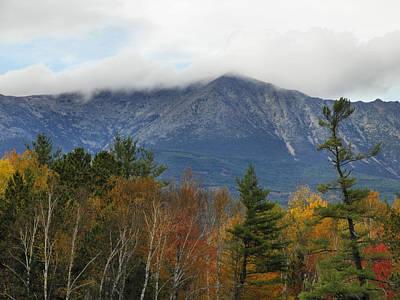 Photograph - Mount Katahdin Autumn 14 by Gene Cyr