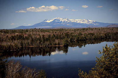 Mount Katahdin Art Print by Cheryl Swift