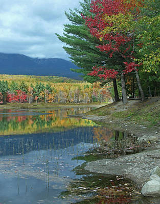 Maine Mountains Photograph - Mount Katahdin Over Abel Creek, Baxter by Tim Fitzharris