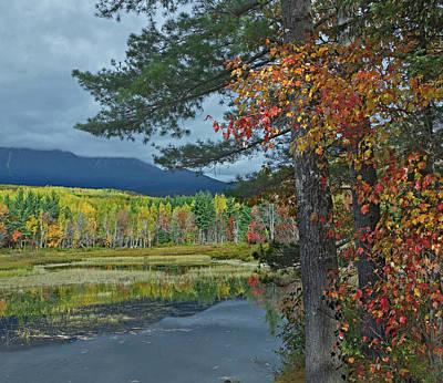 Katahdin Photograph - Mount Katahdin Seen From Abel Creek by Tim Fitzharris