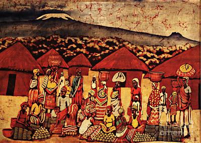 Africa Tapestry - Textile - Mount Kilimanjaro by Eamonn Hogan