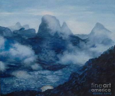 Painting - Mount Kinabalu by Edoen Kang