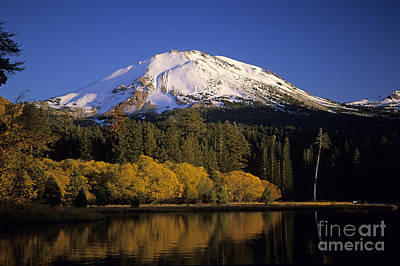 Photograph - Mount Lassen And Manzanita Lake  by Jim Corwin